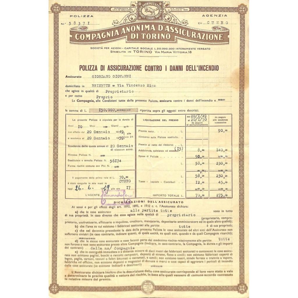 1949 - COMPAGNIA ANONIMA...