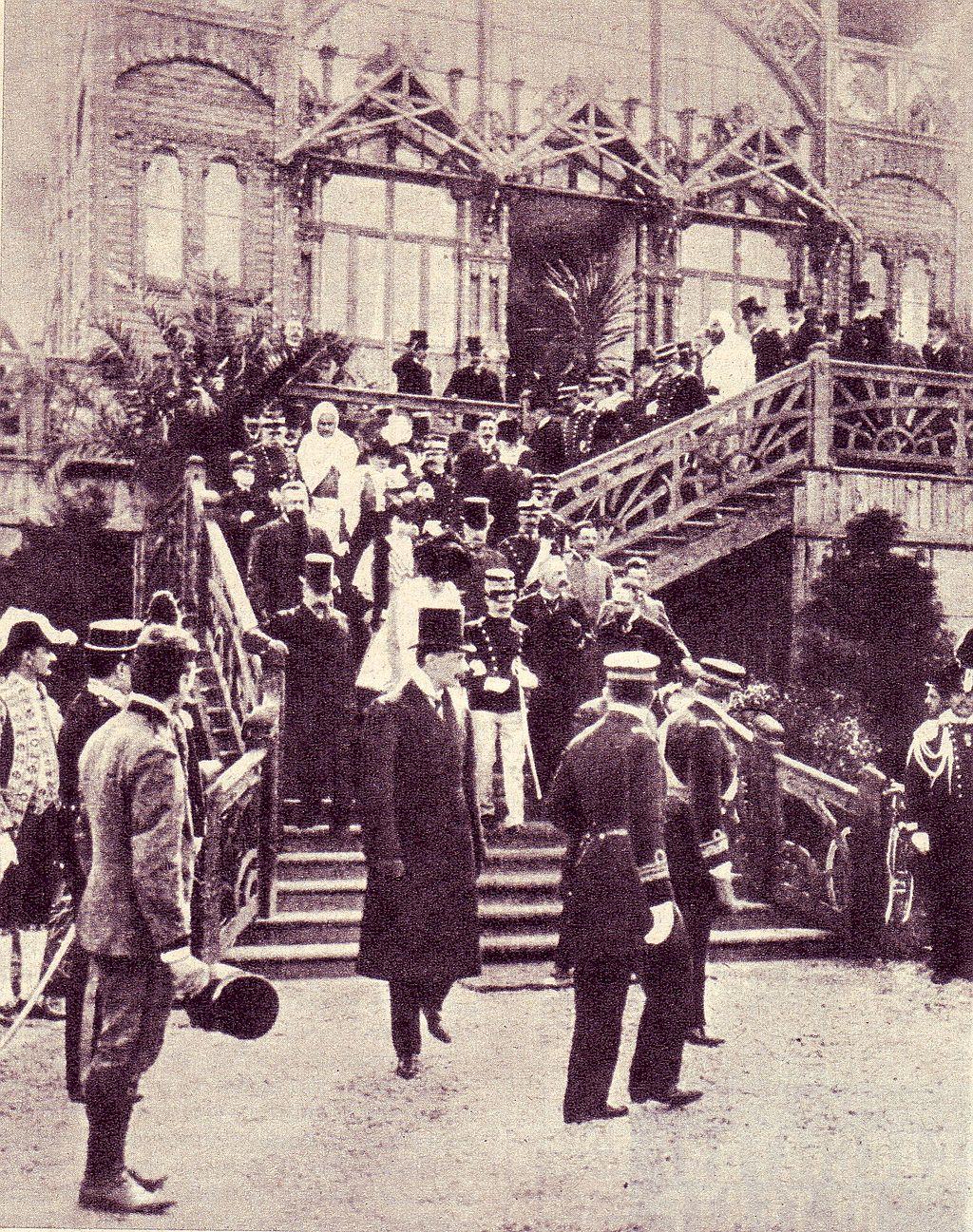 I sovrani d'Italia all'inaugurazione dell'esposizione